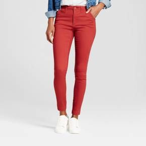 Swap out your usual go-to jeans for these Skinny Chino Pants from A New Day™. These chino pants will instantly become a staple in your closet thanks to a flattering high-waist fit that pairs perfectly with any top. They're easy to dress up or down, so you can confidently pair them with a vintage tee or a button-down blouse to fit your day and mood.