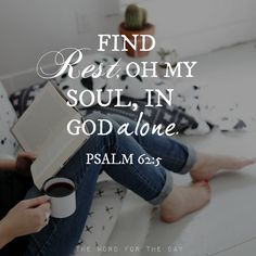 """Psalm 62:1–2; 5–6My soul finds rest in God alone; my salvation comes from Him. He alone is my rock and my salvation; He is my fortress, I will never be shaken. Find rest, O my soul, in God alone; my hope comes from Him. He alone is my rock and my salvation; He is my fortress, I will not be shaken. There is one very important word that occurs four times in succession in those verses that we've just read. The word is """"alone."""" There's only one ultimate source of salvation-Jesus Christ, and it's…"""