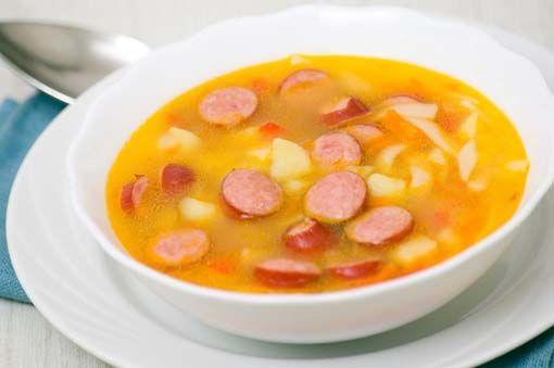 Sopa alemana de salchichas » Divina CocinaRecetas fáciles, cocina andaluza y del mundo. » Divina Cocina