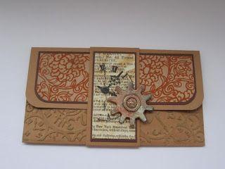 Поделки из сундучка: Конверт к открытке.