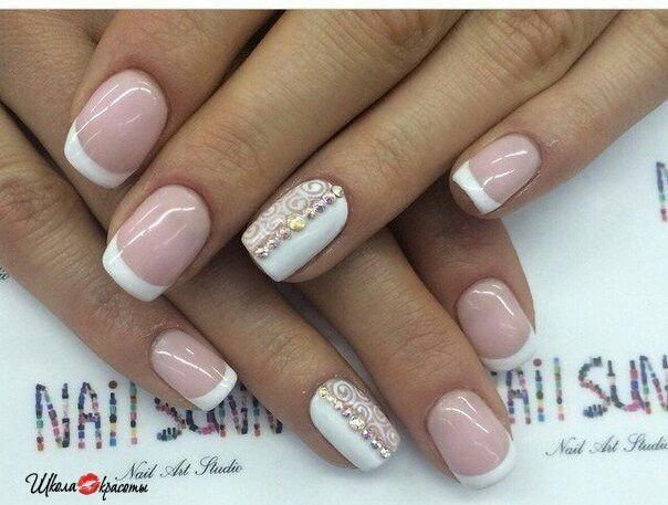 cute, french nails, nail art, nails