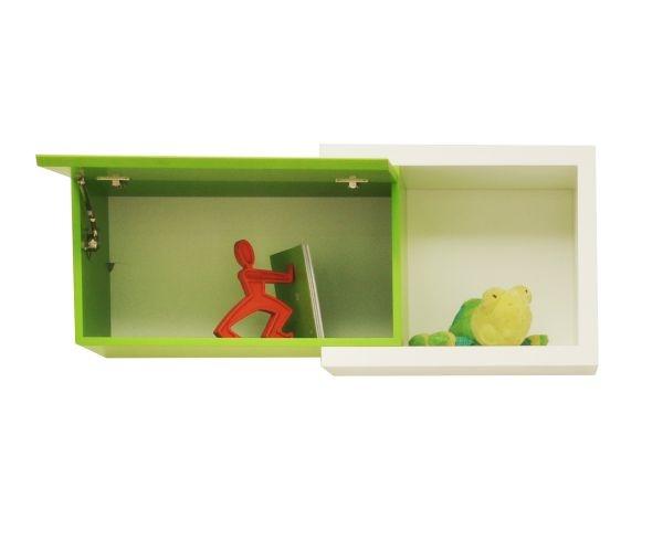 Repisa T, soporte de repisa cuadrada y rectangular de esta colección. Color blanco sólido. Materiales: mdf.