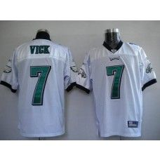 Eagles Michael Vick #7 Stitched White NFL Jersey