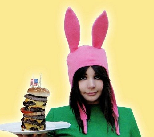 Pink Bunny Ears Hat-- Bobs Burgers | EpicCostumes - Accessories on ArtFire