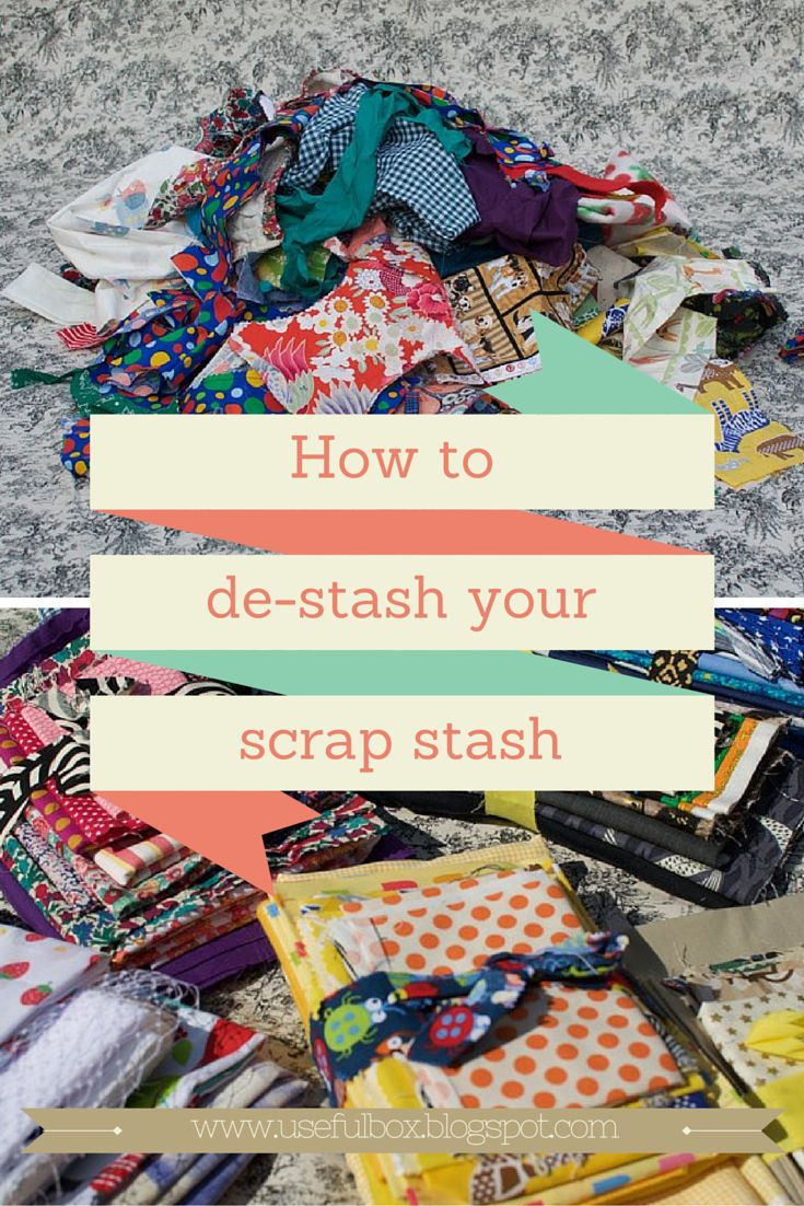 Are you a fabric scrap hoarder?  Here are my top tips to de-stash your scrap stash! x