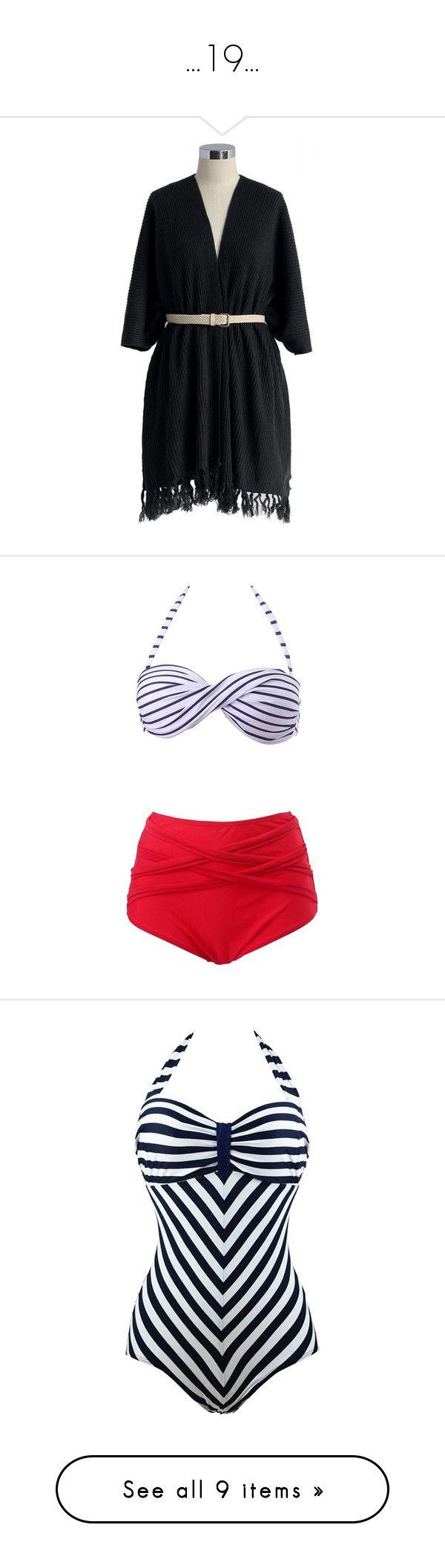 """...19..."" by daviiriiann ❤ liked on Polyvore featuring outerwear, black, cape coat, swimwear, bikinis, high waisted bikini, retro high waisted bikini, high waisted swimsuit, retro high waisted swimsuits and red high waisted bikini"