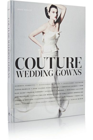 In 'Couture Wedding Gowns', expert and author Marie Bariller lifts the veil on some of the most exquisite wedding gowns ever created. From Alexander McQueen to Zuhair Murad, Bariller profiles highly respected designers from the 20th century to current day. This hardcover book offers insight into their creative processes and detailed descriptions of their iconic designs. The exclusive text is accompanied by over 200 lavish photographs and hand-drawn illustrations. Shop it now at NET-A-PORTER