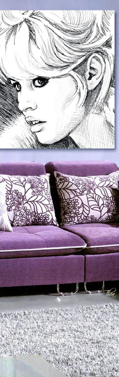 Shades Of Lavender ● Living room.  Via @theatoria. #homedecor #lavender