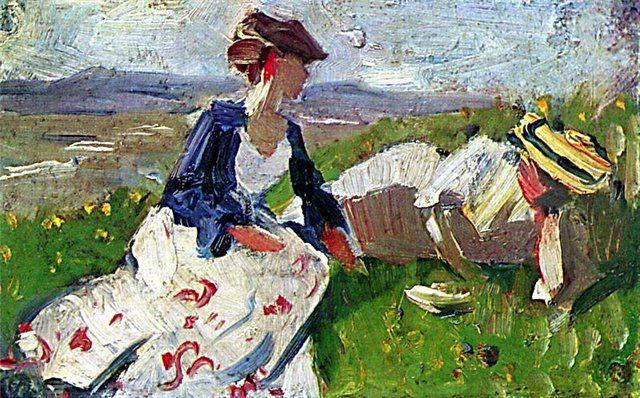 франц марк «Две женщины на горе» (1906)