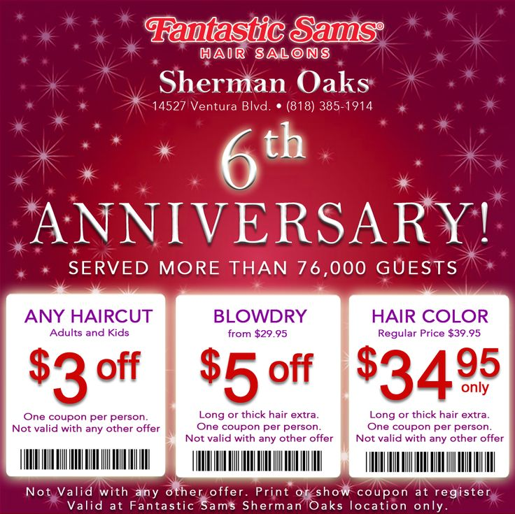 thursday haircut specials 12 best fantastic sams coupons images on 2809