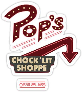 Pops Diner Sticker by anikameeusen