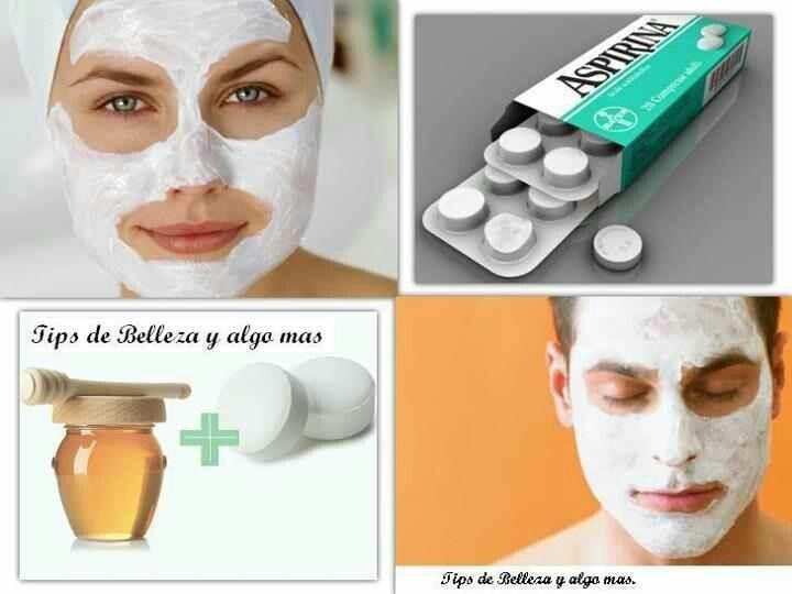 Resultado de imagen para aspirina y miel para el rostro