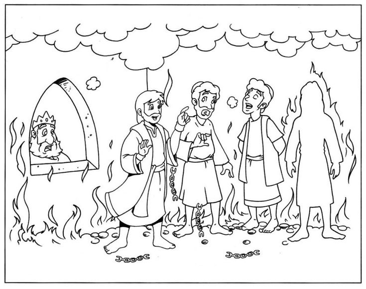 Shadrach Meshach and Abednego Coloring Pages Seeker