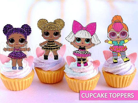 Lol Surprise Cupcake Toppers Lol Surprise Lol Surprise Party