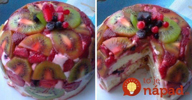 Obrátená smotanovo-ovocná torta