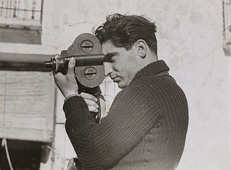 Photographer Robert Capa during the Spanish civil war, May 1937, photo by Gerda Taro.