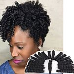 curlkalon crochet braids 10inch toni curls style kanekalon fiber synthetic braiding hair extension 20roots/pack over 5packs can make one head 2017 - $6.29