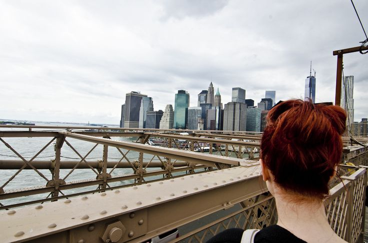 take a walk with me on brooklyn bridge- fashionpuppe.com i love the skyline of new york city