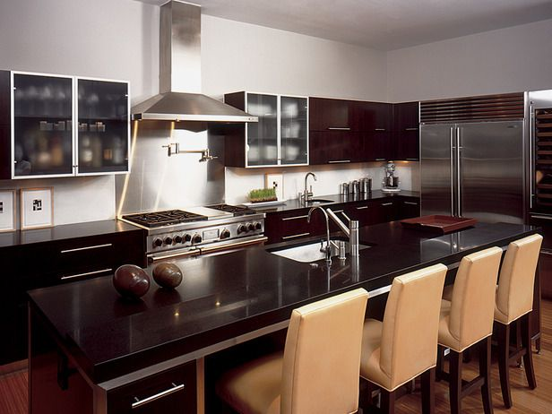 liking the brown tones of this kitchen: Custom Kitchens, Dreams Kitchens, Kitchens Design, Kitchens Ideas, Kitchens Islands, Black Kitchens, Kitchens Cabinets Colors, Kitchens Layout, Kitchen Layouts