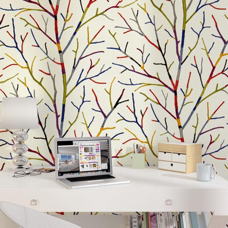 Intissé WOOL TREE coloris multicolore
