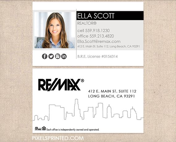 REMAX real estate business cards REAL ESTATE TIPS Realtor