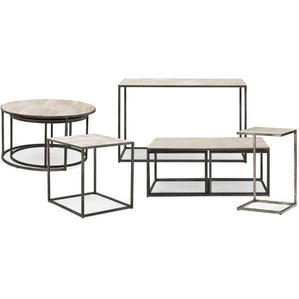 The Modern Basics Sofa Table Mixes Materials In A Beautiful Way Add Rectangular Or Round Cocktail Tables End And Chairside To