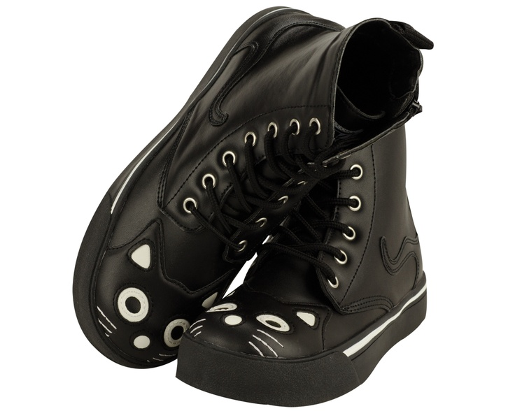 T.U.K. Kitty Boots  Next big buy. I need these! They're adorable.