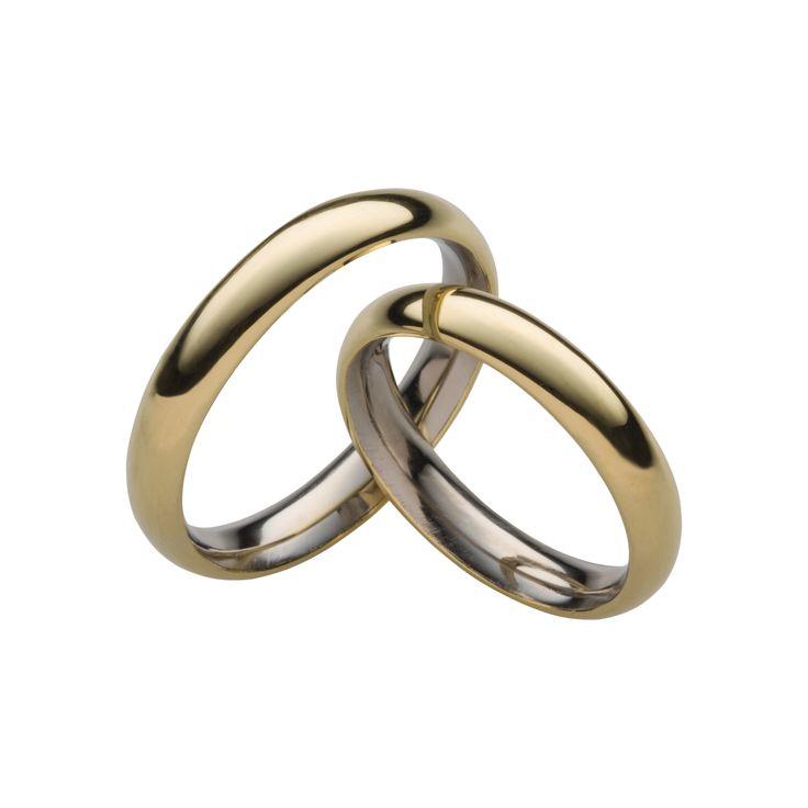 Aliança em Aço Revestida com ouro 18k. #ring #steel #gold #jewelry #anel #namoro
