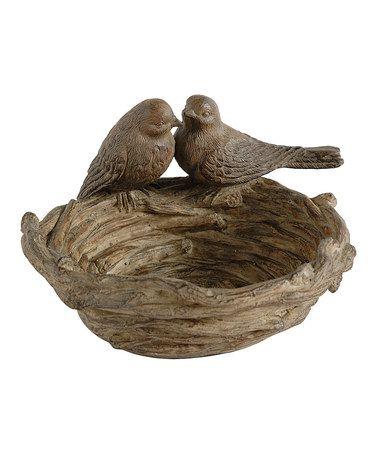 Bird's Nest Bird Feeder... would make a cute key bowl by the front door!