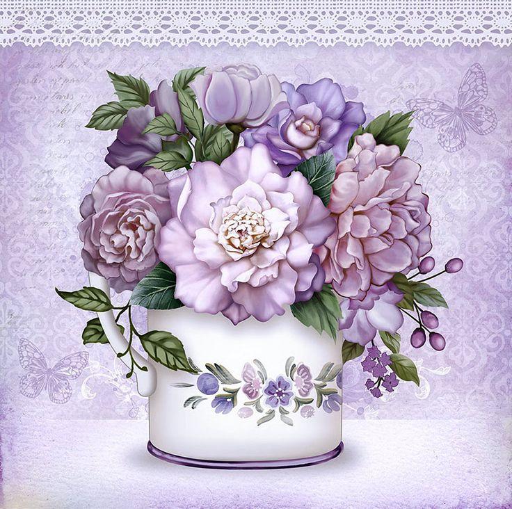 Декупаж картинки цветы