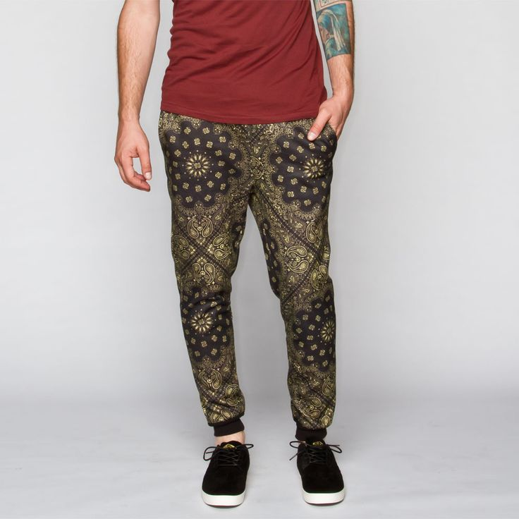 ELWOOD Bandana Print Mens Jogger Pants 240273774 | Joggers & Sweatpants / Tilly's
