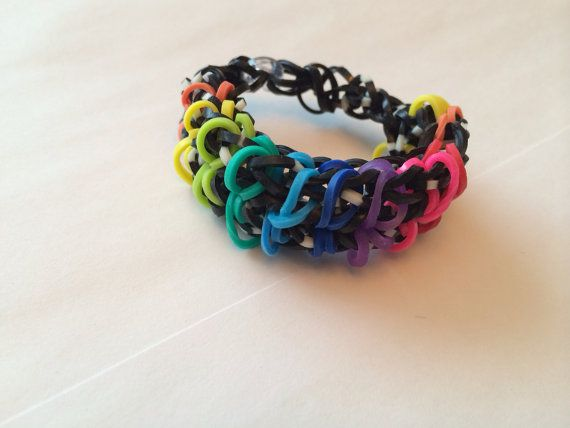 Loom zip-pity chain bracelet. Made to order  on Etsy, $5.00 CAD