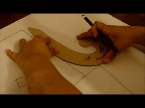 ♥ Como hacer una regla curva francesa para diseño de patrones ~ diseño de modas - YouTube
