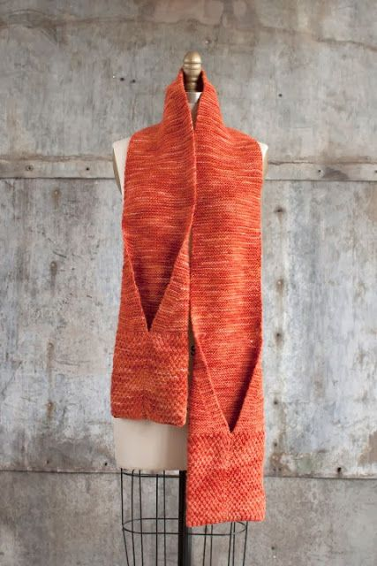 NobleKnits Knitting Blog: Free Knitting Pattern: Manos Camote Pocket Scarf