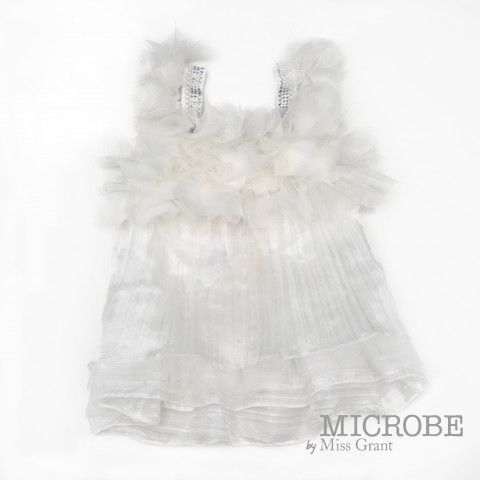 MICROBE by #missgrant TAFFETA DRESS WITH TULLE PETALS. Sale 50% off Spring&Summer Collection! #discount