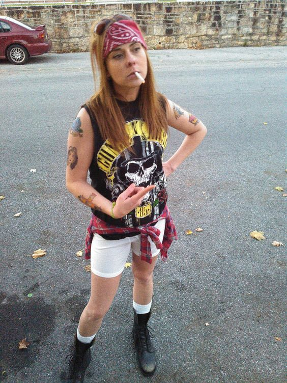 DIY Guns N Roses Axl Rose Halloween Costume Idea 3