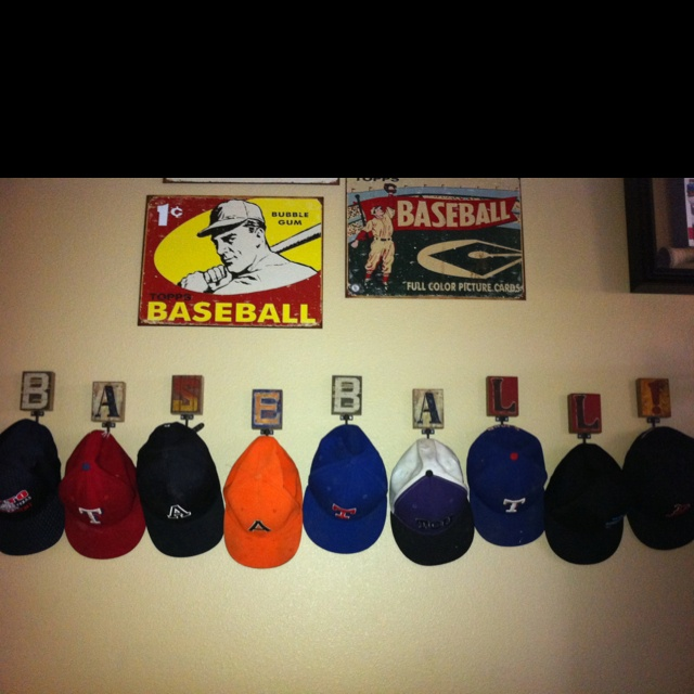 finally place baseball hats ideas for hanging caps