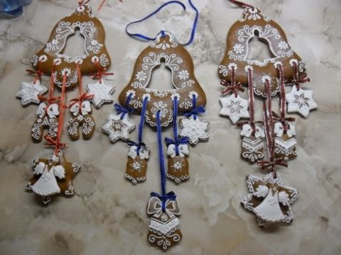 vánoční dekorace-závěs