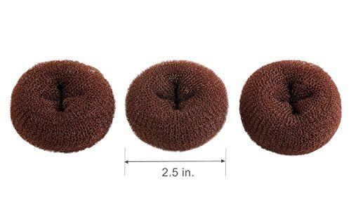 CLOTHOBEAUTY 3 pieces Extra Small Size KidsChildren Hair Bun Donut Maker Ring Style Bun Chignon Hair Donut Buns Maker Hair Doughnut Shaper Hair Bun makerfor short and thin hair 25 in  Brown -- Learn more by visiting the image link.(This is an Amazon affiliate link and I receive a commission for the sales)