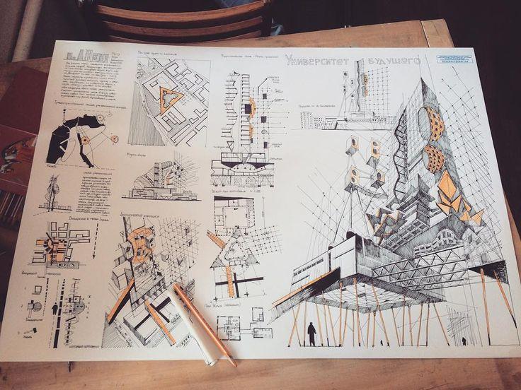 Full sketch 2016. KSUAE. #illest.arts #architecture #arch_more…