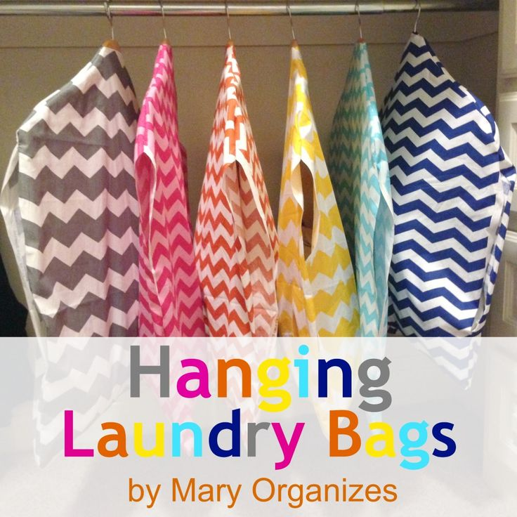 Make Laundry Easy: Laundry Sorting Groups, Wash Cycles, and Sew Your Own Laundry Bags