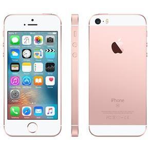 """iPhone SE Apple com 64GB, Tela 4"""", iOS 9, Sensor de Impressão Digital, Câmera iSight 12MP, Wi-Fi, 3G/4G, GPS, MP3, Bluetooth e NFC - Ouro Rosa"""
