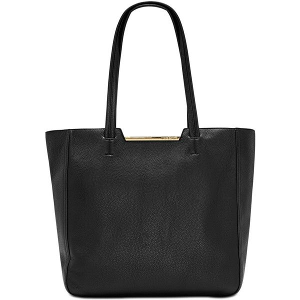 Vince Camuto Elias Extra-Large Tote (245 CAD) ❤ liked on Polyvore featuring bags, handbags, tote bags, black, genuine leather tote bags, leather laptop tote bag, laptop purse, leather tote purse and handbags totes