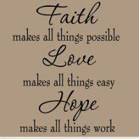 Faith And Love Quotes Pleasing 21 Best 믿음 소망 사랑 Images On Pinterest  Faith Hope Love