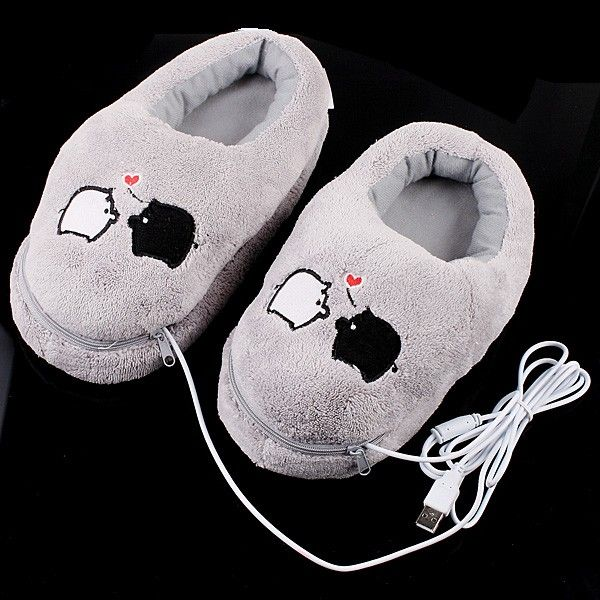 The #warmershoes get hot when you plug them in. So expect toasty warm feet! On the good side though, You can just unzip the slipper, take out the heating pad and place them in a bigger slipper or even a sneaker for warmth.  http://www.tomtop.cc/fYfuu2