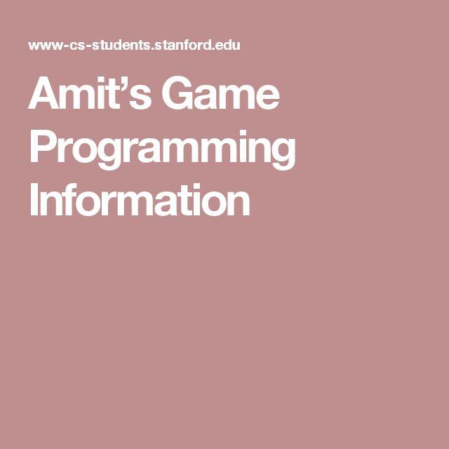 Amit's Game Programming Information