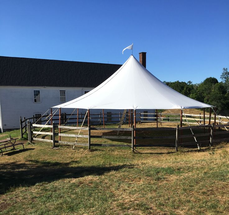 Tent In The Corral From Boston Rustic Wedding Rentals