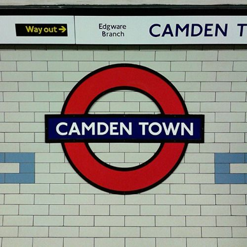 Camden Town London Underground Station in London, Greater London