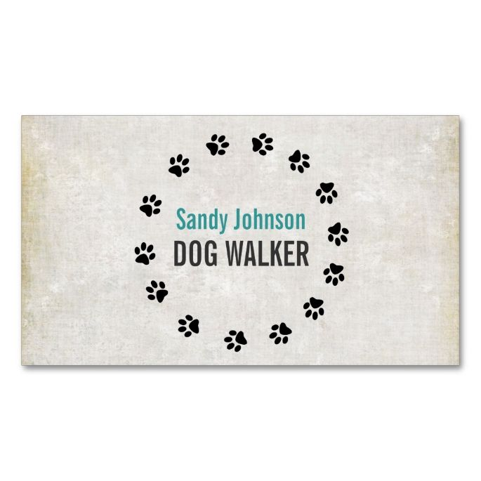 Dog Walker Walking Pet Sitting Services Business Double-Sided Standard Business Cards (Pack Of 100). This is a fully customizable business card and available on several paper types for your needs. You can upload your own image or use the image as is. Just click this template to get started!