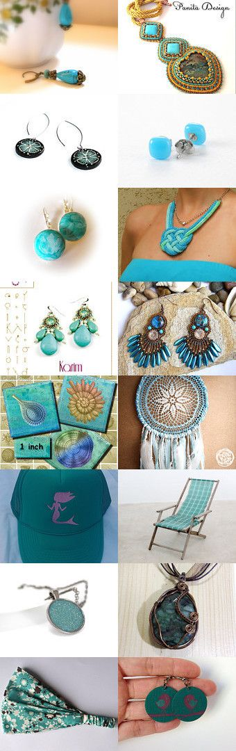 Turquoise Sunday by Bibe Jewelry on Etsy--Pinned with TreasuryPin.com